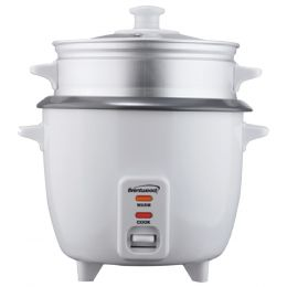 Brentwood Appliances TS-380S Rice Cooker with Steamer (10 Cups, 700 Watts)