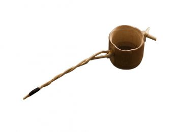Follicular Tea Tea Straine Tea Filter Tea Strainers  Bamboo Root Bamboo Spoon